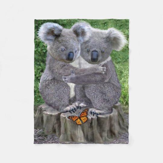 BABY KOALA HUGGIES FLEECE BLANKET
