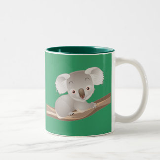 Baby Koala Two-Tone Coffee Mug