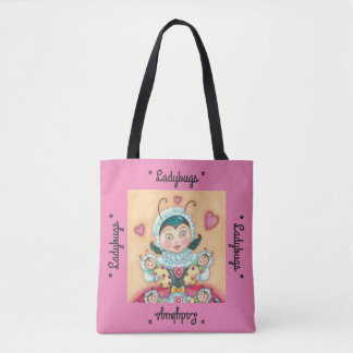"Baby Ladybug Mom ""LADYBUGS"" TOTE BAG *Customize"