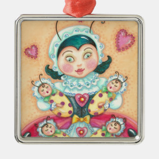 Baby Ladybugs MOM CHRISTMAS ORNAMENT