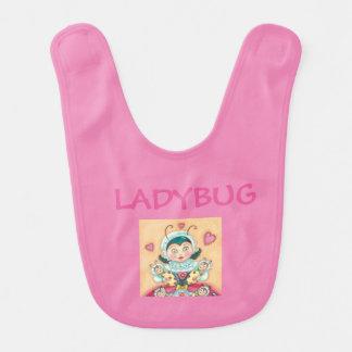 Baby Ladybugs Pink BABY BIB *Customize