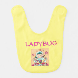 Baby Ladybugs Yellow BABY BIB *Customize