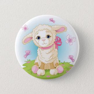 Baby Lamb 6 Cm Round Badge
