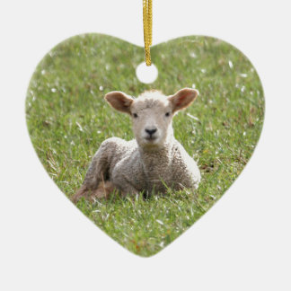Baby Lamb Christmas Ornament