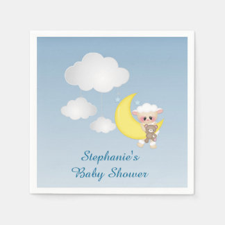Baby Lamb, Moon and Clouds Paper Serviettes