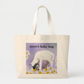 Baby Lambs first steps Jumbo Tote Bag