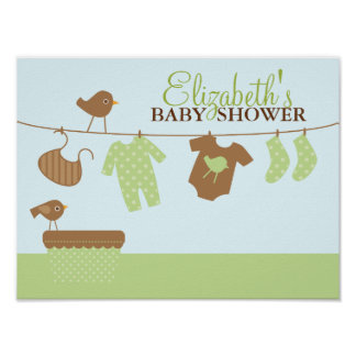 Baby Laundry Baby Shower Welcome Sign Poster