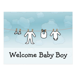 Baby Laundry - Boy Post Cards