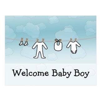 Baby Laundry - Boy Postcard