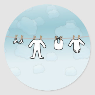 Baby Laundry - Boy Round Sticker