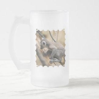 Baby Lemur Frosted Beer Mug