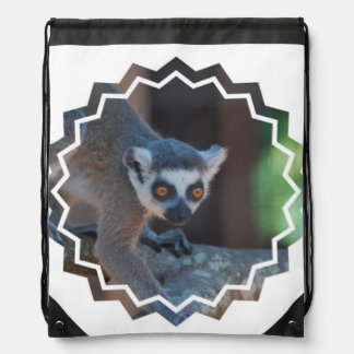Baby Lemur Drawstring Bag