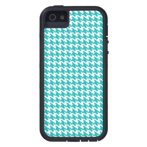 Baby light blue houndstooth tweed zigzag pattern iPhone 5 cover