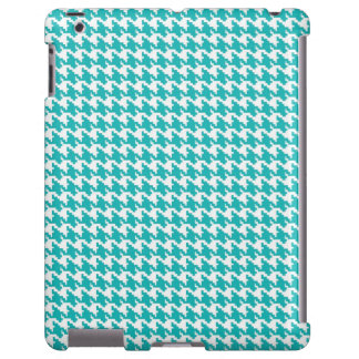 Baby light blue houndstooth tweed zigzag pattern