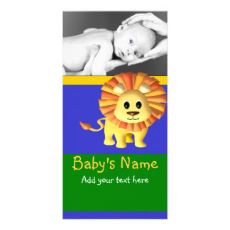 Baby Lion Announcement Picture Card