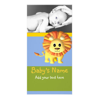 Baby Lion Announcement Photo Cards