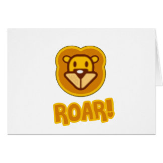 Baby Lion Cartoon Greeting Card