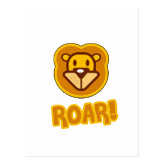 Baby Lion Cartoon Post Card