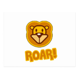 Baby Lion Cartoon Post Cards