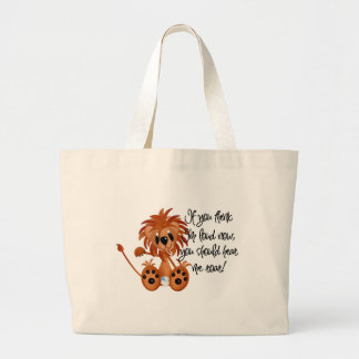 Baby Lion Hear Me Roar Tshirts and gifts Canvas Bags