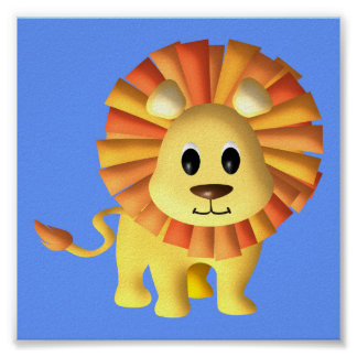 Baby Lion/ Nursery Decor Poster