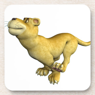 Baby Lion Running Beverage Coasters