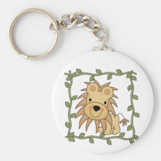 Baby Lion T-shirts and Gifts Basic Round Button Key Ring