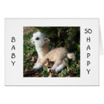 BABY LLAMA SAYS HAPPY FOR YOU AND NEW BABY CARDS