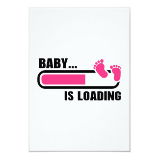 Baby loading 9 cm x 13 cm invitation card