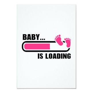 Baby loading 9 cm x 13 cm invitation card