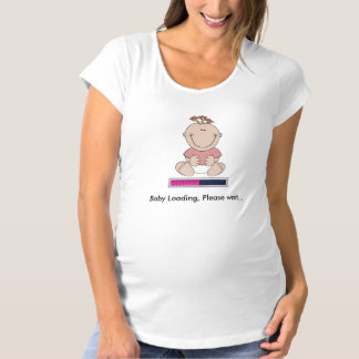 Baby loading (girl) maternity T-Shirt