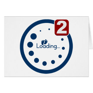 Baby Loading , Twin Notification Greeting Card