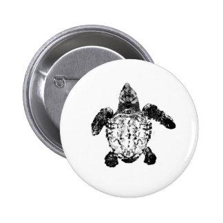 Baby Loggerhead Sea Turtle 6 Cm Round Badge