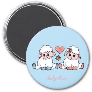 baby love 7.5 cm round magnet