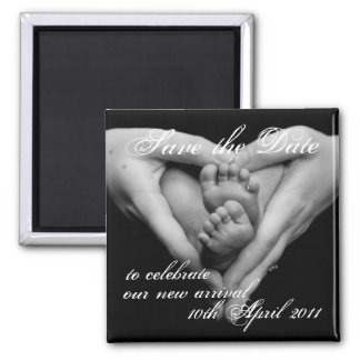 Baby Love, Save the Date Square Magnet