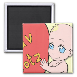 Baby love square magnet