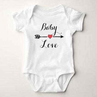 Baby Love with heart arrow Baby Shirt