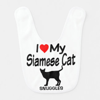 Baby Loves a Siamese Cat Bib
