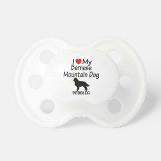 Baby Loves Bernese Mountain Dog Pacifier