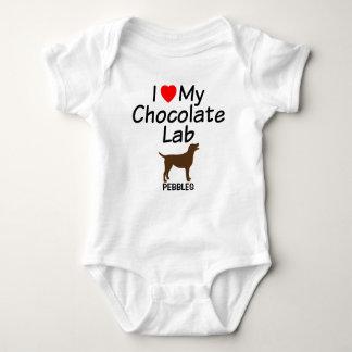 Baby Loves Chocolate Lab Dog Baby Bodysuit