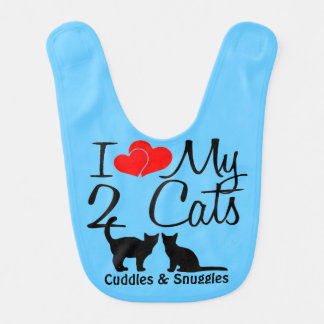 Baby Loves TWO Cats Bib