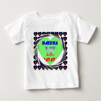 Baby Luminous Hearts Hakuna Matata Baby Kid Design Baby T-Shirt