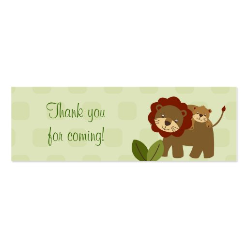 Baby Luv Jungle Animal Baby Shower Favor Gift Tags Business Cards