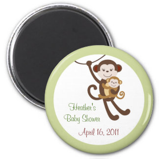 Baby Luv Monkey Jungle Baby Shower Favor Magnets