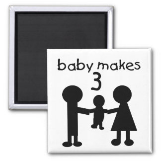 Baby Makes 3 Magnet