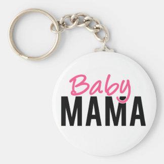 Baby Mama Basic Round Button Key Ring