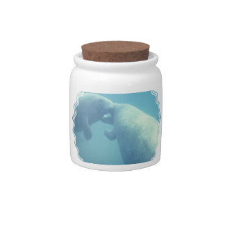 Baby Manatees Candy Jar