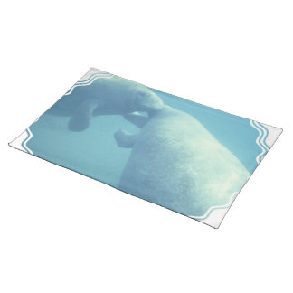 Baby Manatees Placemat Cloth Placemat