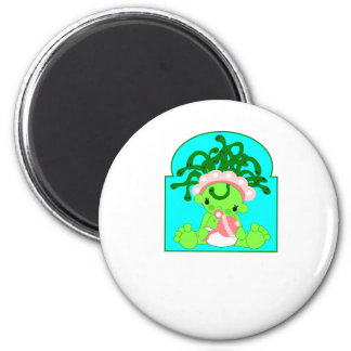 Baby Medusa 6 Cm Round Magnet
