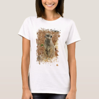 Baby Meerkat Ladies Fitted T-Shirt